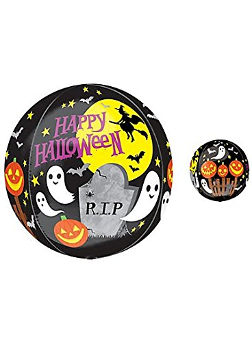Orbz XL Happy Halloween Black Balloon 1ct