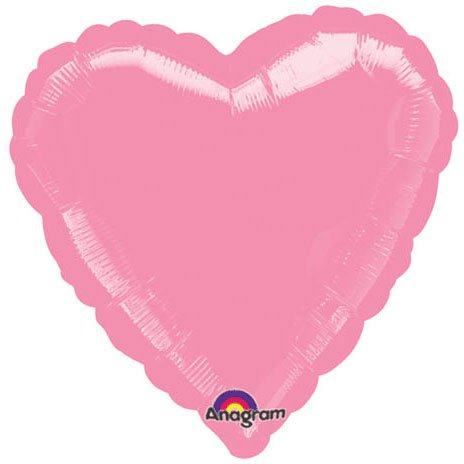 "18"" Metallic Pink Heart Balloon (1 ct)"