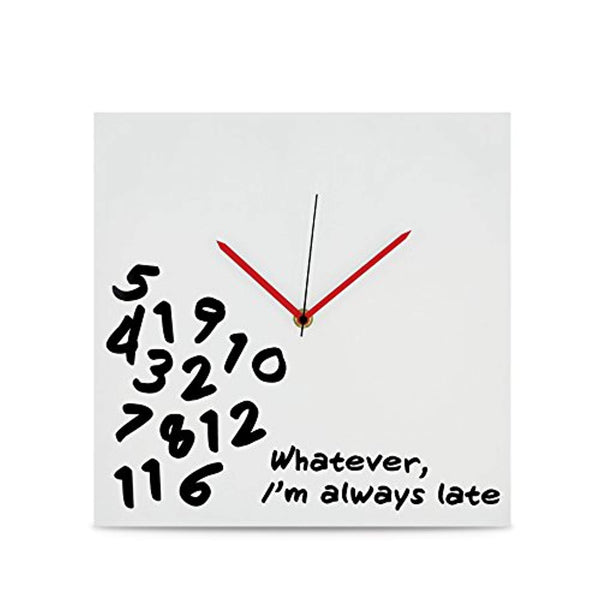 "KOVOT ""I'm Always Late"" Wall Clock - 12"" x 12"""