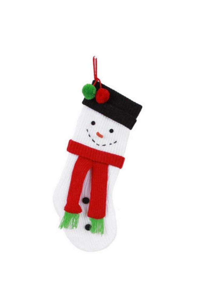 Knit Snowman Stocking