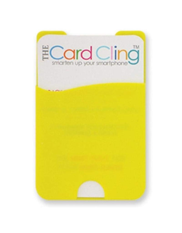 Silicone Stick On Card Cling for Phone (Yellow)