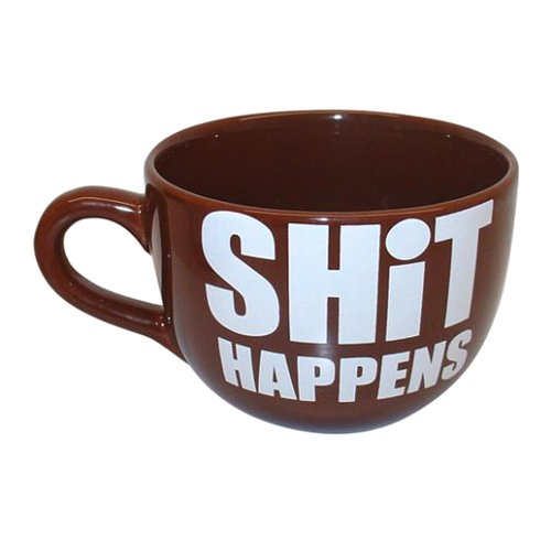 22oz Giant Coffee Mug -- Funny Coffee Mug!!-- I Love Geeks Mug - Shit Happens Round Mug - Time To Poop Mug ~ Choose Your Own!