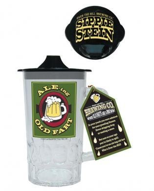 Ale-ing Old Fart Beer Stein w/Sippie Lid-1 piece