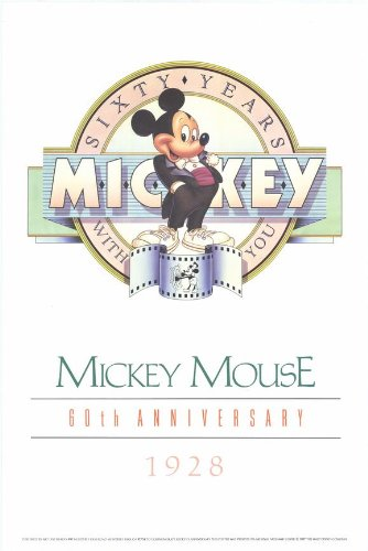 Mickey Mouse 60th Anniversary Gallery POSTER Movie (27 x 40 Inches - 69cm x 102cm) (8999)