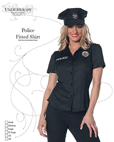 Underwraps Women's Police Fitted Shirt
