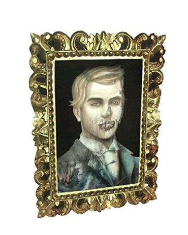 Beistle Lenticular Transforming Dorian Gray Gentleman Portrait Halloween Decor, 16 X 12 inches