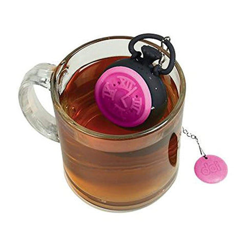 DCI Tea Time Tea Infuser, Pink/Black