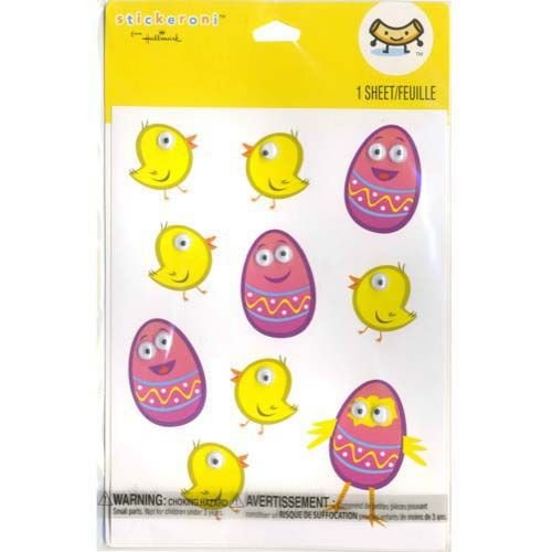 Easter Chick & Egg With 3D Eyes Sticker