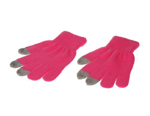 Tiger Plush Touch Gloves for iPad, iPhone 4S (Pink)