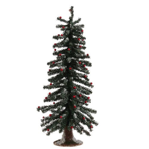 "Raz Imports Fresh Greens 19"" Snowy Christmas Tree with Metallic Balls"