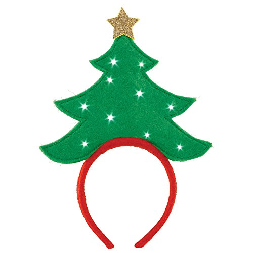 Light Up Christmas Tree Headband