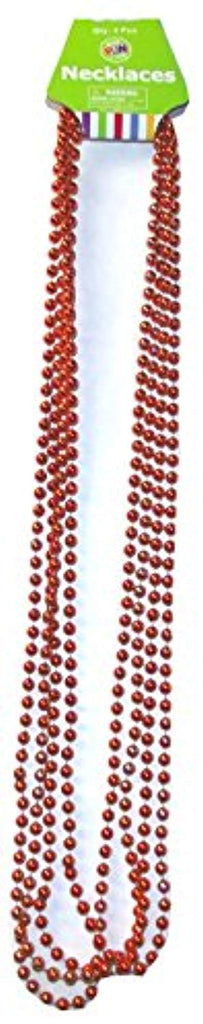 Fun Express Orange Festival Party Bead Necklaces, 4 count