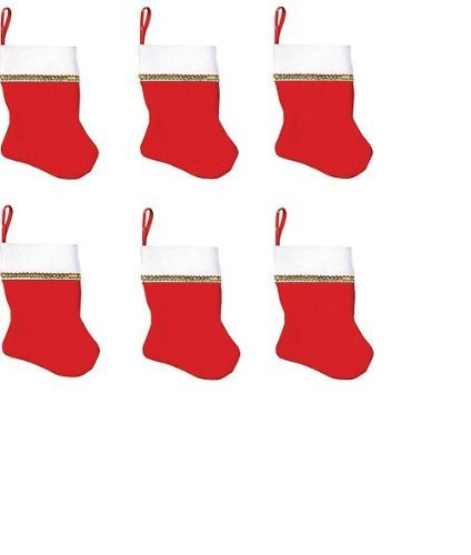 "5"" Small Christmas Stocking 6 Pack"