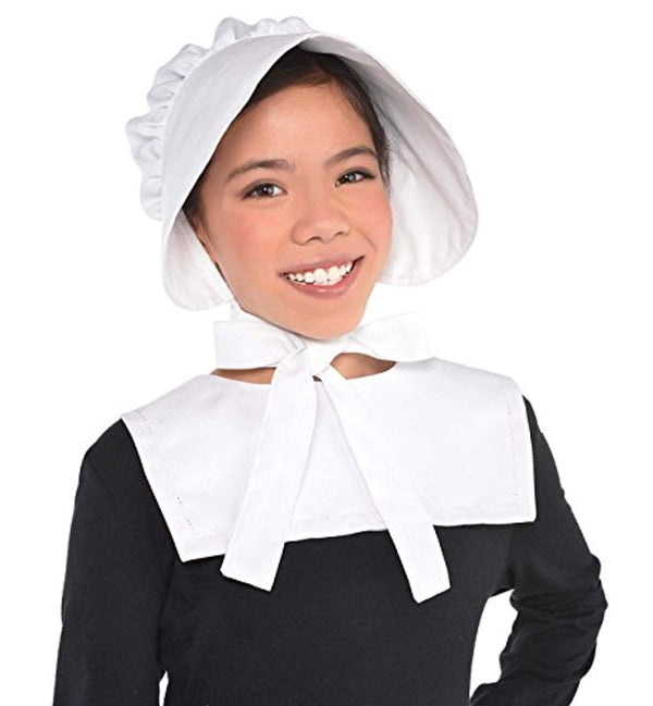 Amscan White Bonnet Child Costume Accessory