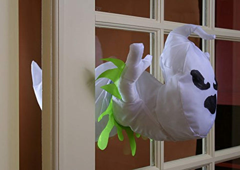 Friendly Scary Crashing Boo Breaker Ghost Halloween Decor Window Suction Cup