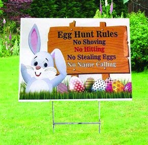 Easter Egg Hunt Yard Stakes