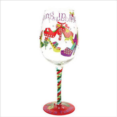 Top Shelf Bling in The Holiday's Wine Glass