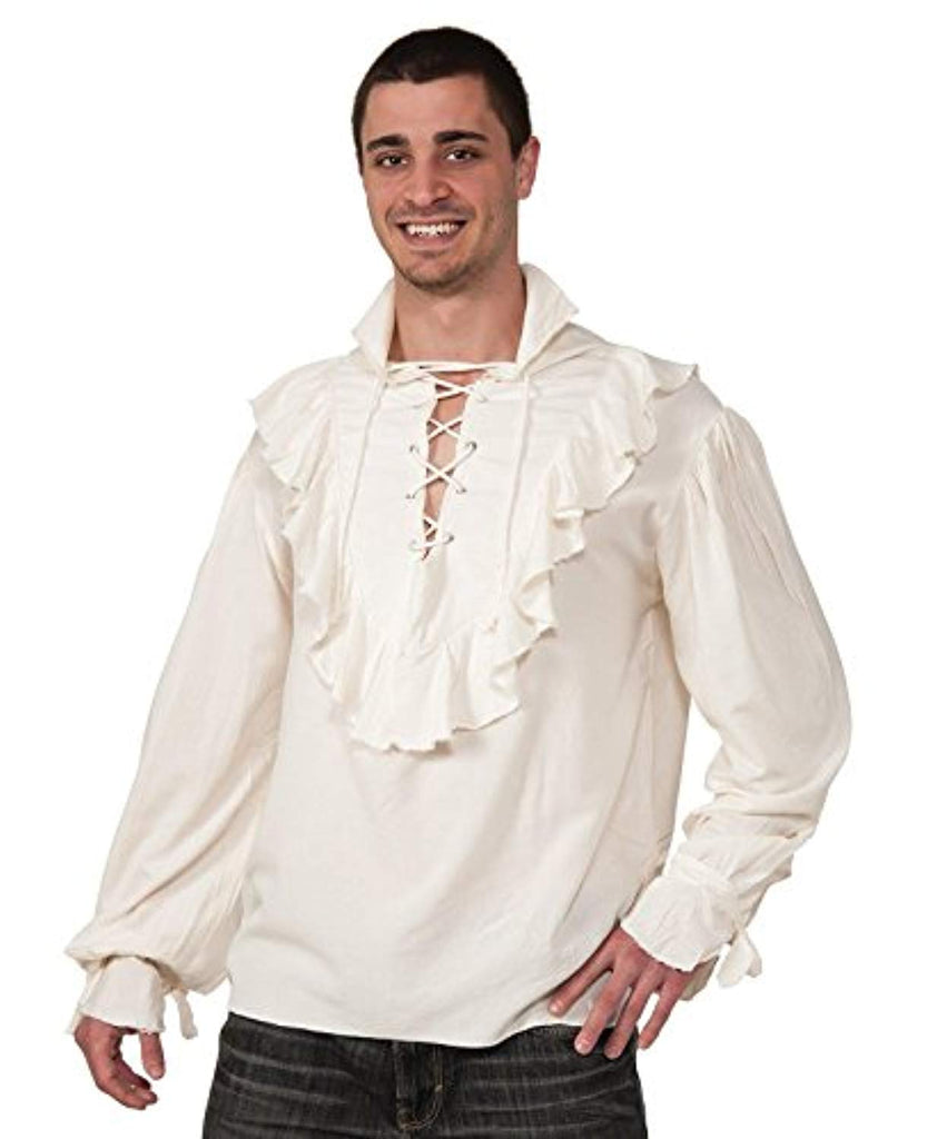 Rubies Costumes 133263 Fancy White Pirate Shirt Adult - Standard One-Size