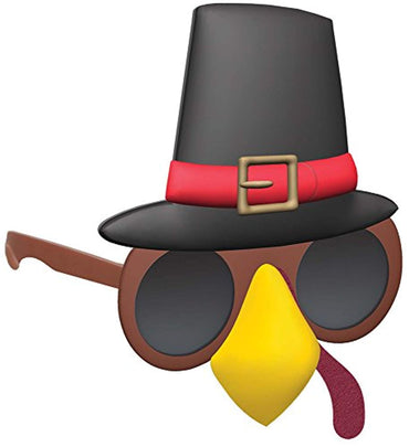 Glasses Turkey W/Pilgrim Hat