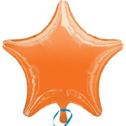 "18"" Orange Star Shape Balloon (1 per package)"