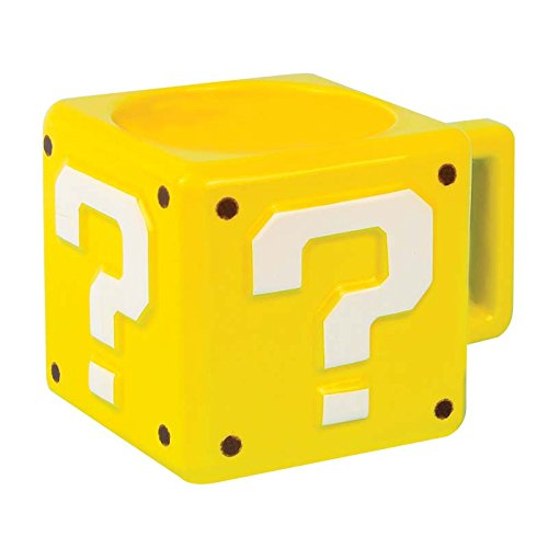 Paladone Super Mario Brothers Question Block Ceramic Coffee Mug