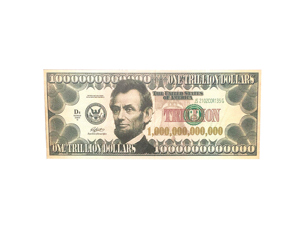 Aahs Engraving Trillion Dollar Bill Life Size Carboard Stand Up, Colored Print