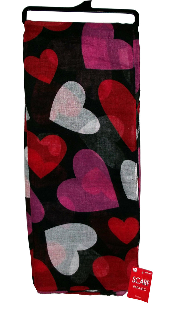 Amscan Valentine's Day Hearts Scarf