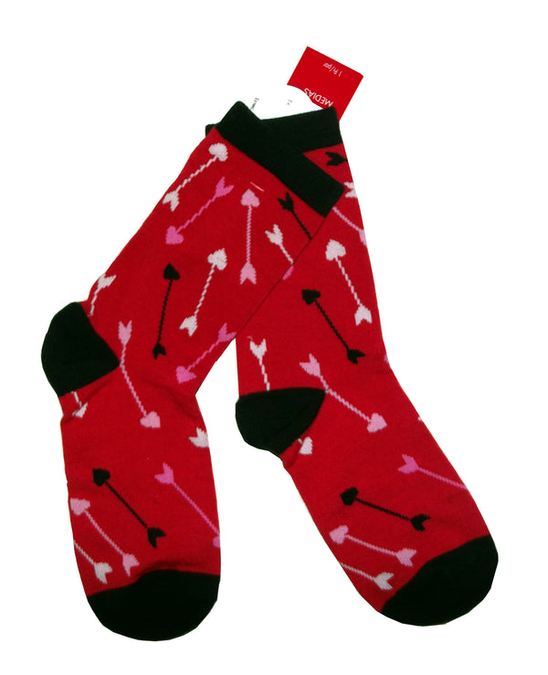 Amscan Valentine's Day Arrow Crew Socks