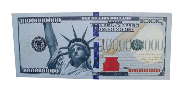 Aahs Engraving Billion Dollar Bill Carboard Stand Up, Colored Print
