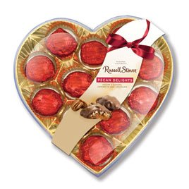 Russell Stover Pecan Delight Gift Heart, 5 oz.