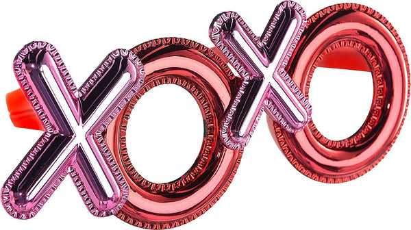 """XOXO"", Valentine Metallic Plastic Shades, Costume Accessory"