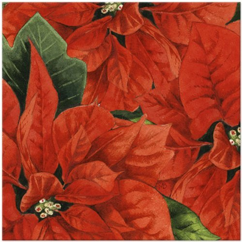 Christmas Bastin Poinsetta Lunch Napkin-16 count