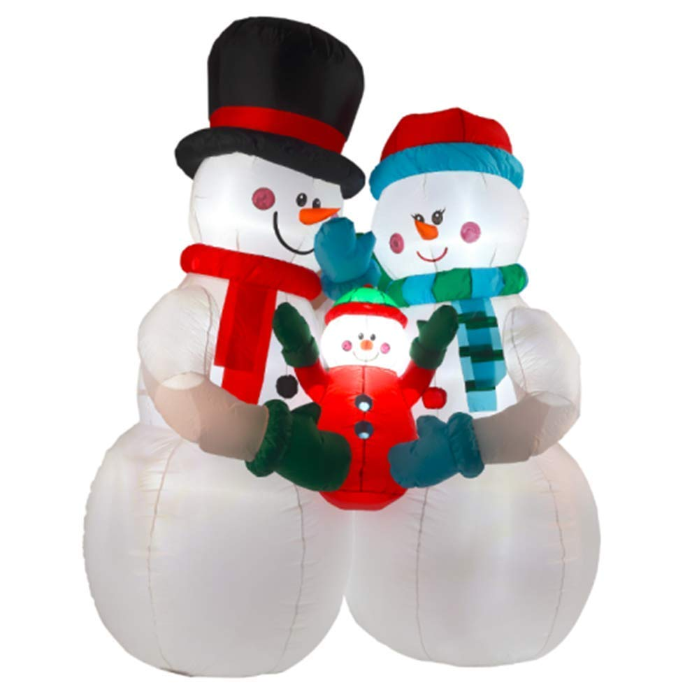 8FT Inflatable Snowman Family Indoor Outdoor Christmas Holiday Decorations