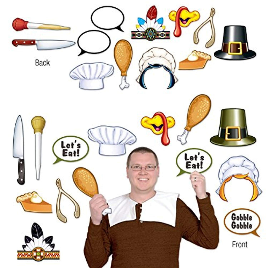 The Beistle 90012 Thanksgiving Photo Fun Signs - Pack of 12