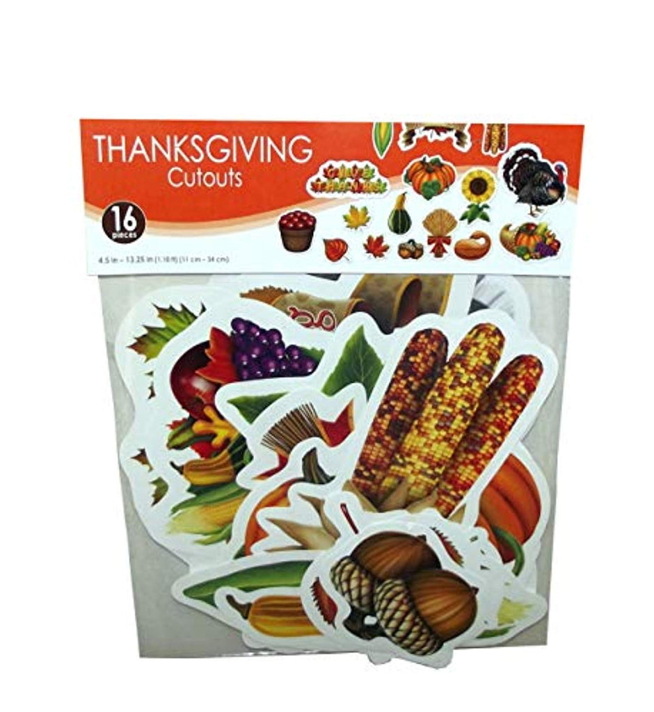 Beistle Thanksgiving Cutouts, 16 pieces