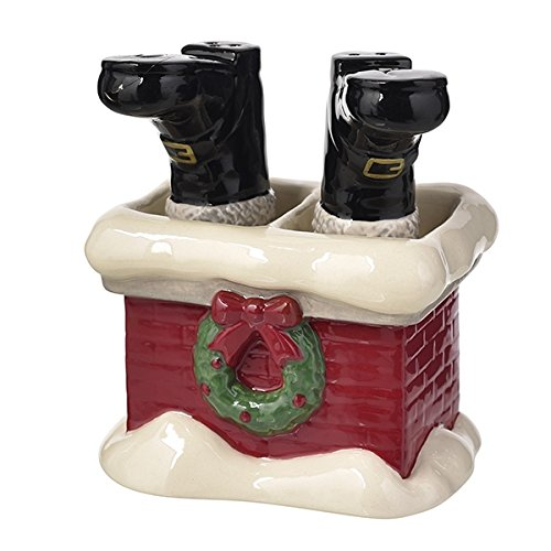 Grasslands Road December to Remember Santa Boots Salt and Pepper Shaker Set 471994