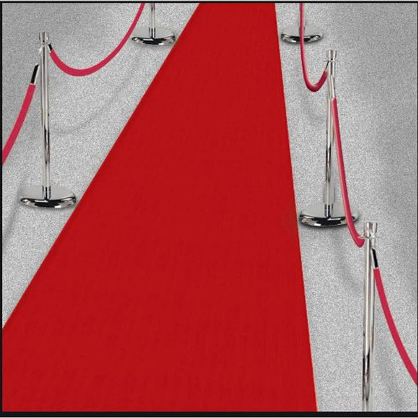 Amscan 15ft Hollywood Party Decoration Fabric Red Carpet Floor Runner