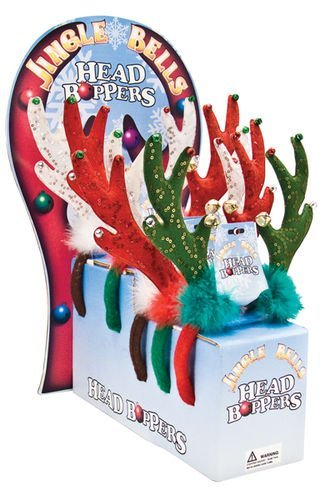 Jingle Bells Head Boppers Green Antlers Headband