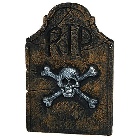 "Amscan - 22"" Skull and Crossbones RIP Tombstone"
