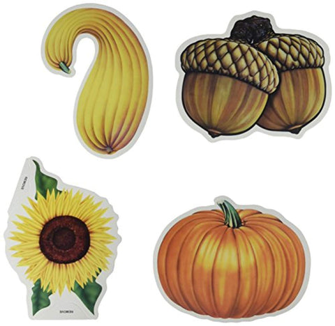 Beistle 10-Pack 5-Inch to 6-Inch Fall Decorative Cutouts, Mini