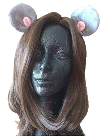Forum Novelties Unisex-Adults Animal Ears Hair Clip-Mouse, Gray, Standard