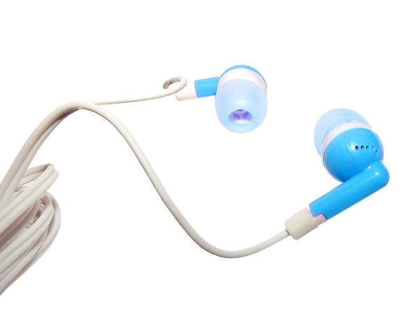 Blue Earphones in Tube Box