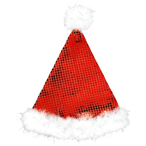 hat sequined plush santa