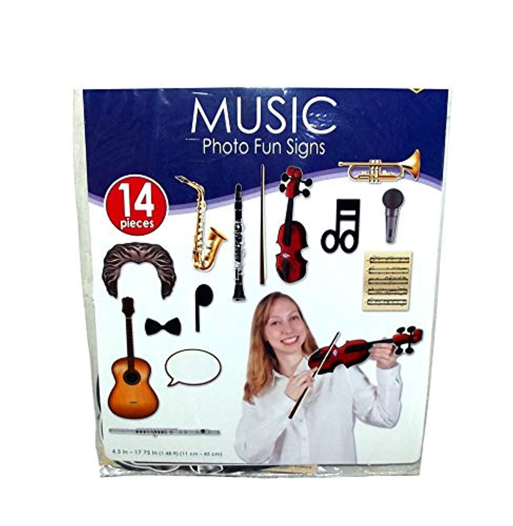 Beistle Classical Music Photobooth Party Props, 14 pieces