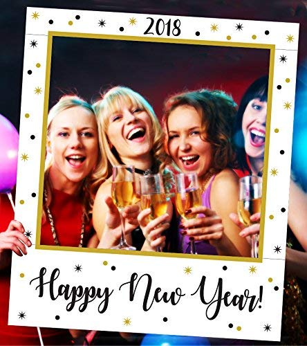 "Aahs Engraving ""2018 Happy New Year"" Party Frame Photo Prop, 35 X 30 inches"