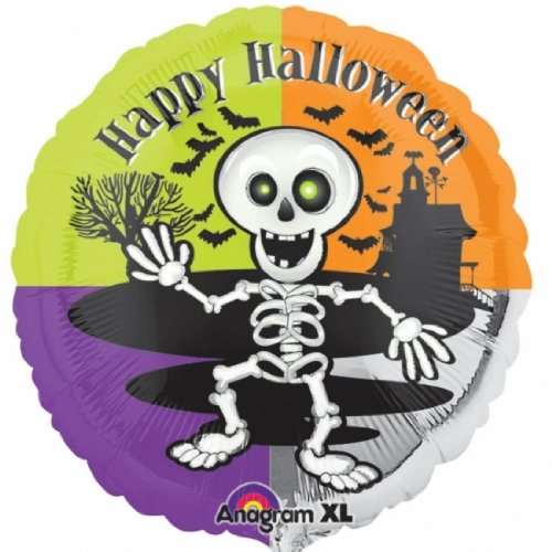 "Happy Halloween Skeleton 18"" Mylar Balloon"