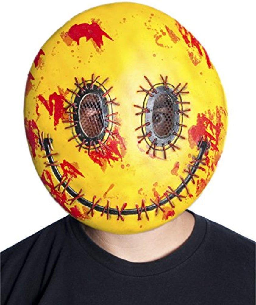 Forum Novelties M38036 Happy Mask Toy, One Size, Yellow/Red