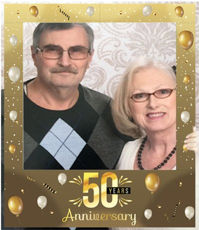 Aahs Engraving50 Years Anniversary Party Photo Frame Prop 35 X 30