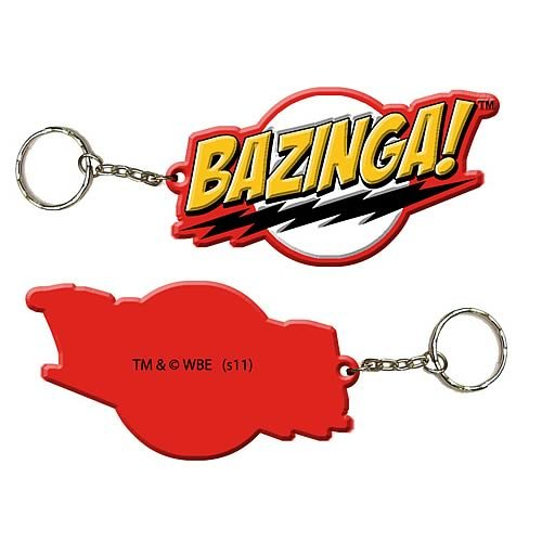Big Bang Theory Bazinga Rubber Keychine Officially Licensed Authentic New