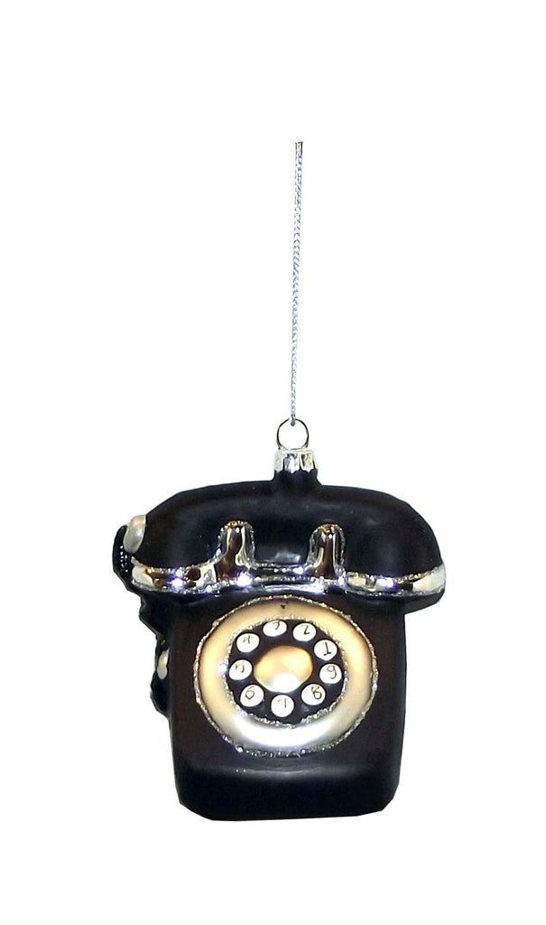 Ganz Black White Retro Nostalgia Style Tree Ornament